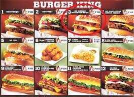 منيو مطعم برجر كينج 1 6 2015 الصفحة 4 من 8 عروض اليوم
